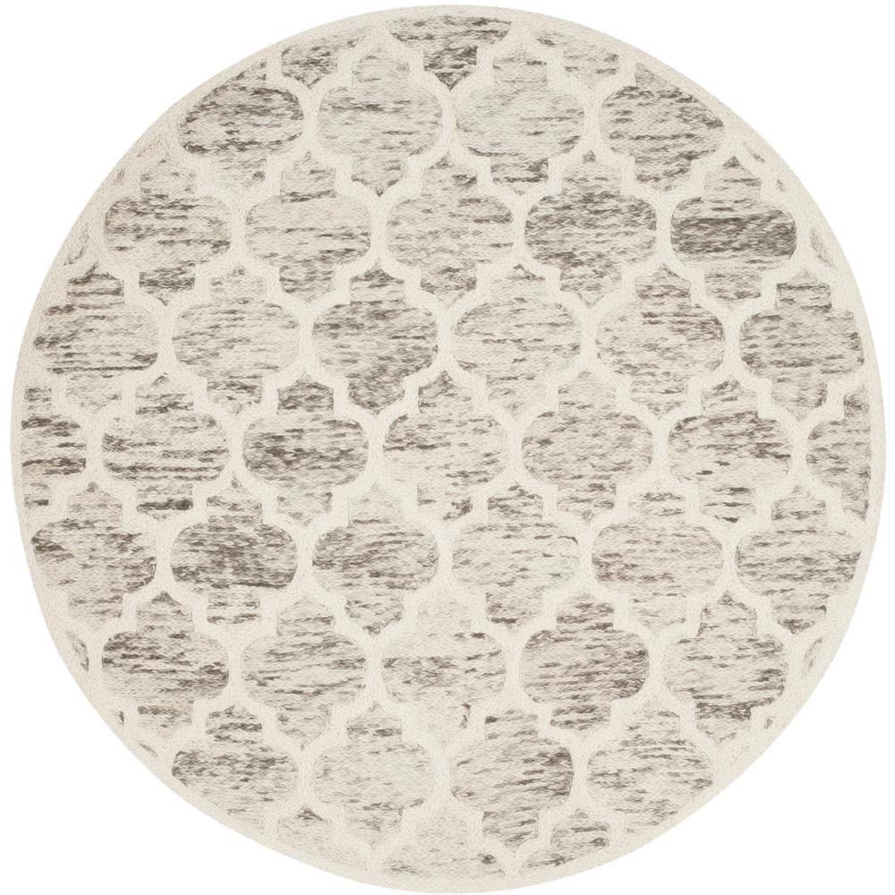 Himalaya Gray/Ivory 6 ft. x 6 ft. Round Area Rug
