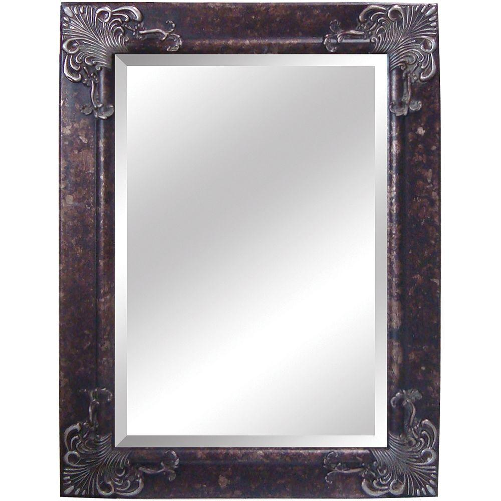 Yosemite Home Decor 32.5 in. x 44.5 in. Rectangular Decorative Antique Wood Framed Mirror
