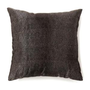Shale 18 in. Contemporary Throw Pillow in Black (Pack of 2)