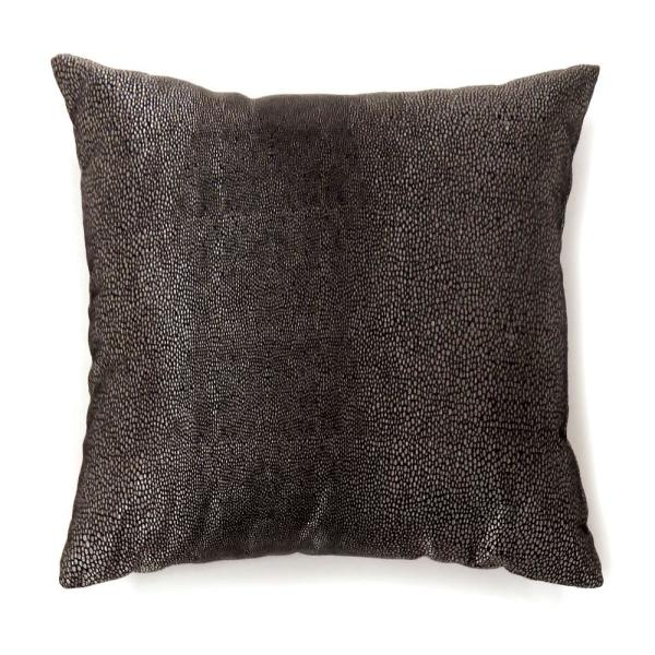 Shale Black Solid Polyester 18 in. x 18 in. Throw Pillow (Set of 2)