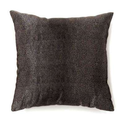 Shale 22 in. Contemporary Standard Throw Pillow in Black