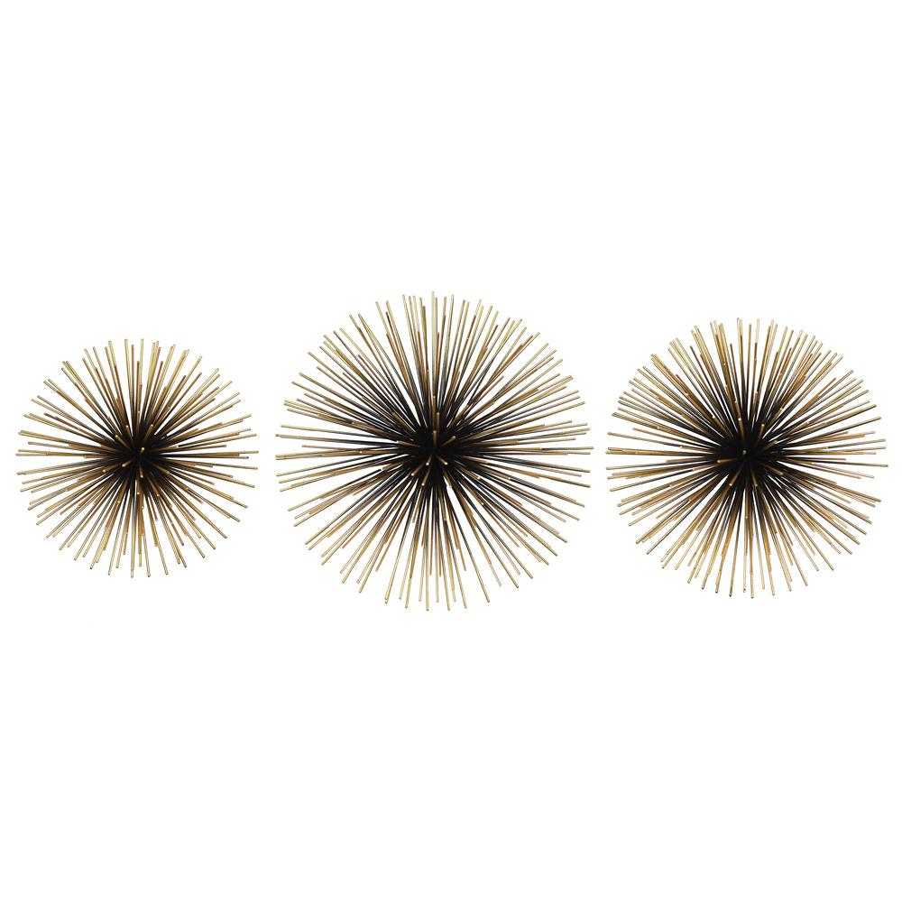 Rocchio Large Starburst Sets Black and Gold Metal Wall Art