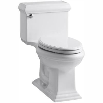 Memoirs Classic 1-Piece 1.28 GPF Single Flush Elongated Toilet with AquaPiston Flush Technology in White, Seat Included