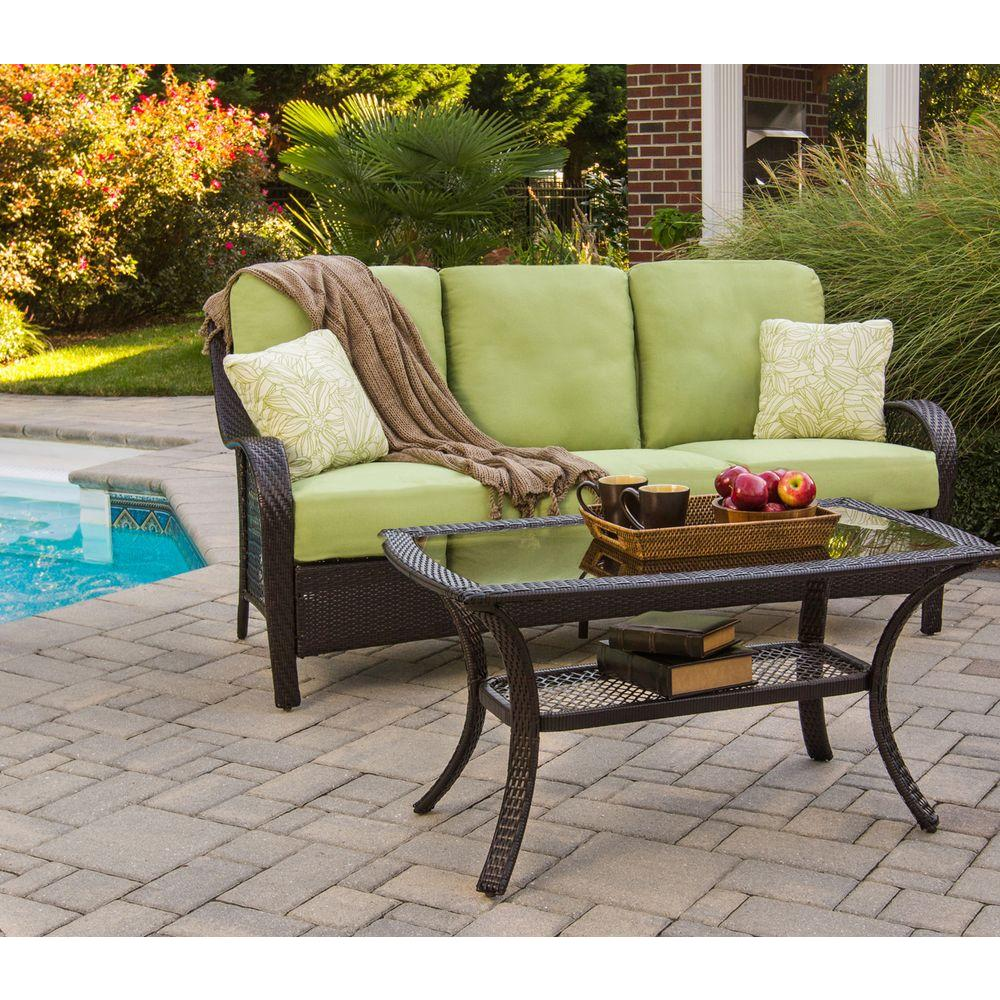 Hanover Orleans 2 Piece Patio Seating Set With Avocado Cushions