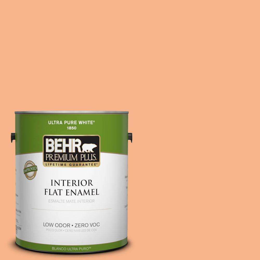 BEHR Premium Plus 1-gal. #250D-4 Autumn Mist Zero VOC Flat Enamel Interior Paint-DISCONTINUED