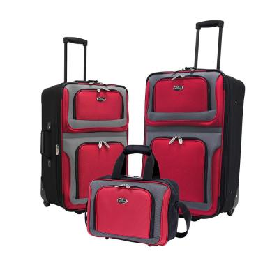 New Yorker Red Luggage Set (3-Piece)