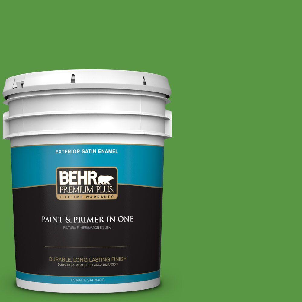 5-gal. #430B-7 Cress Green Satin Enamel Exterior Paint