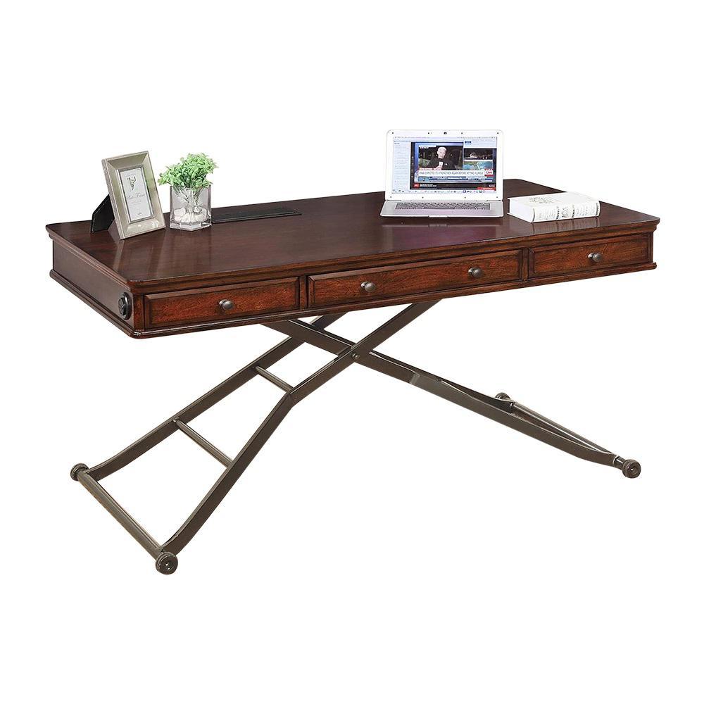 Turnkey Sit Stand Desk Cherry Finish