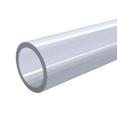 1-1/4 in. x 5 ft. Furniture Grade Sch. 40 PVC Pipe in Clear