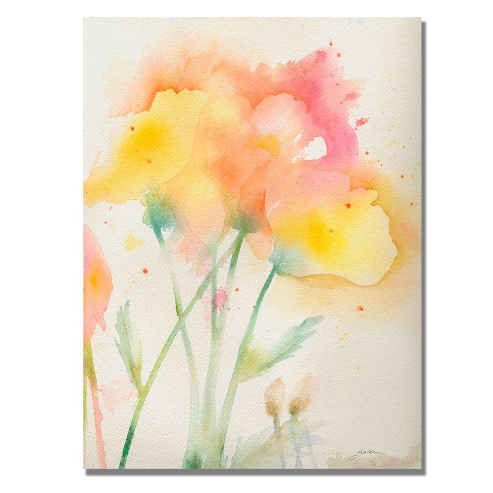 null 24 in. x 32 in. Garden Poppies Canvas Art