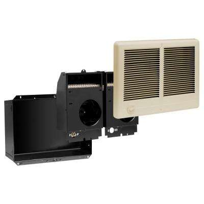 Com-Pak Twin 4,000-Watt 240-Volt Fan-Forced In-Wall Electric Heater Almond