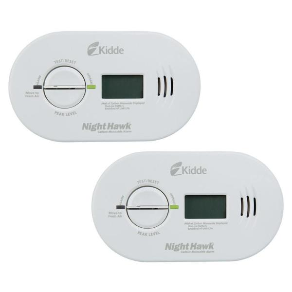 Battery Operated Carbon Monoxide Detector with Digital Display (2-pack)