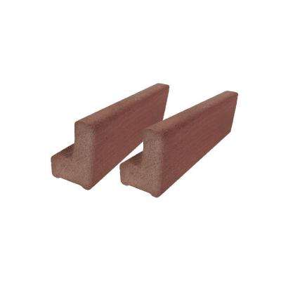 Vantage 6 ft. Mahogany Solid Composite Universal Base Rail or Hand Rail (2-Pack)