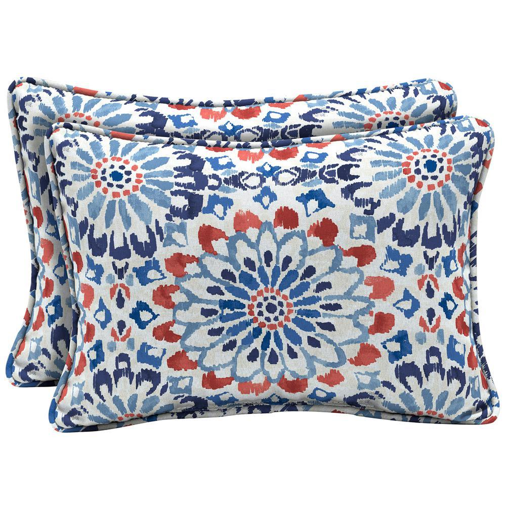 Arden Selections 22 x 15 Clark Oversized Lumbar Outdoor Throw Pillow (2-Pack)