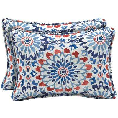 Clark Oversized Lumbar Outdoor Throw Pillow (2-Pack)