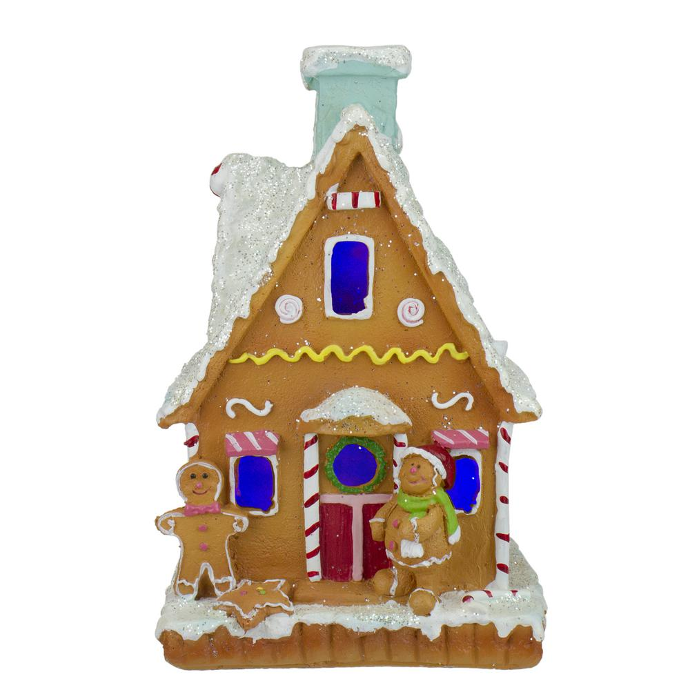 Northlight 8 5 In Led Lighted Gingerbread House Christmas Figure