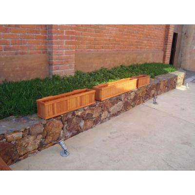 Summer 8.5 in. x 8.5 in. x 48 in. 1905 Super Deck Finished Redwood Window Planter Box