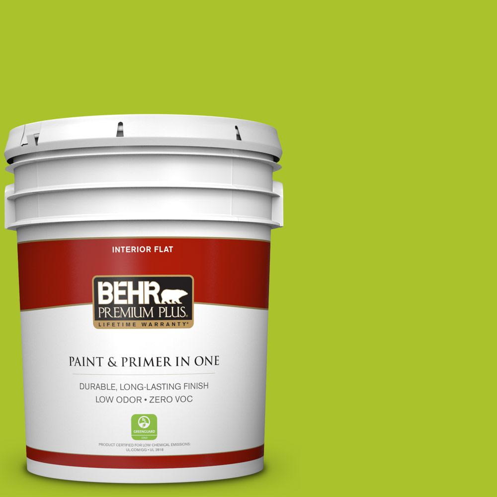 5 gal. #410B-6 Crisp Green Zero VOC Flat Interior Paint