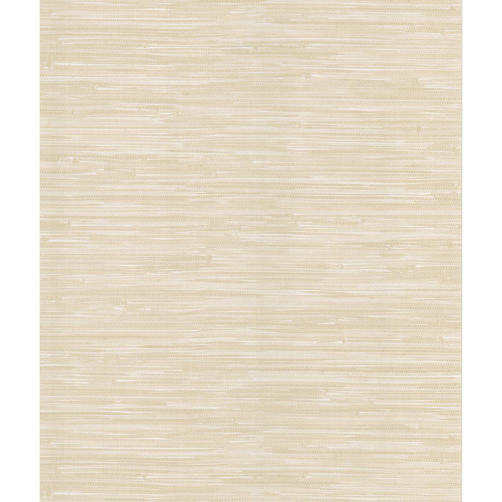 National Geographic Madagascar Cream Faux Grasscloth Wallpaper Sample