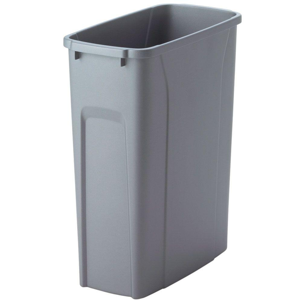 replacement pull out trash can 20 qt durable plastic waste basket bin organizer ebay. Black Bedroom Furniture Sets. Home Design Ideas