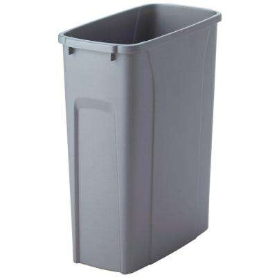 16 in. H x 14 in. W x 7 in. D Plastic 20 Qt. Replacement Pull-Out Trash Can in Gray