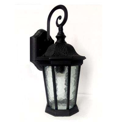 Misty Black Golden Sand Outdoor Integrated LED Wall Mount Sconce