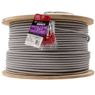 12/3 x 1,000 ft. Stranded CU MC (Metal Clad) Armorlite Cable
