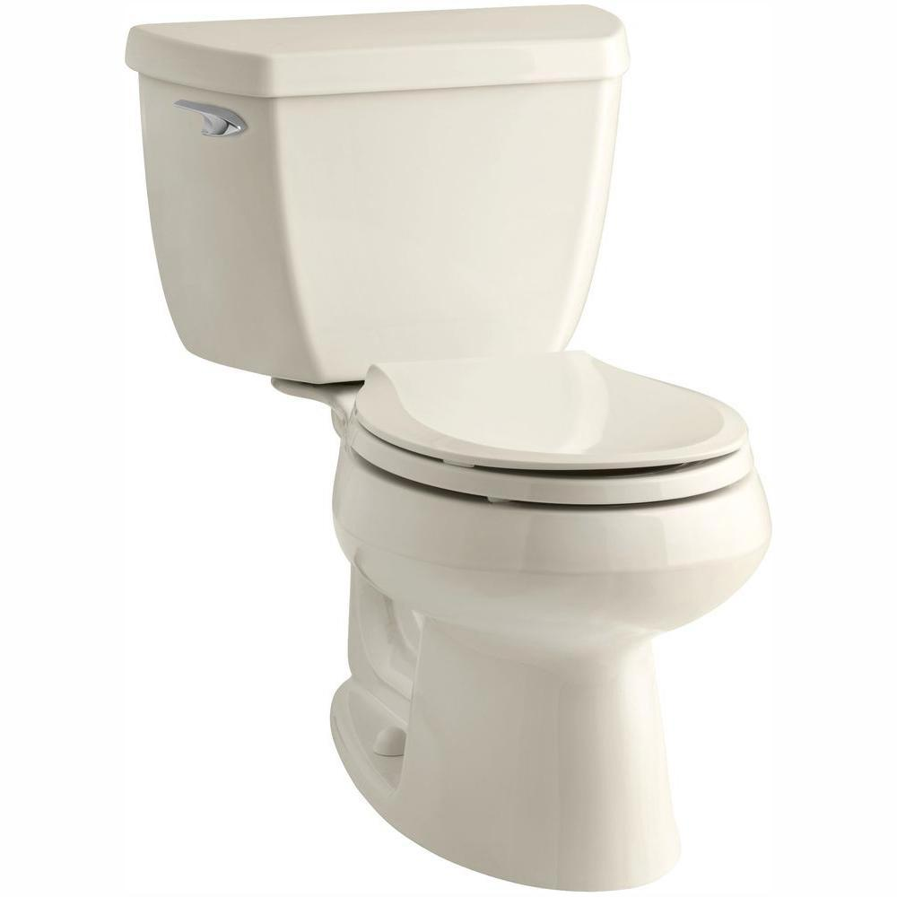 Cool Kohler Wellworth Classic 2 Piece 1 28 Gpf Single Flush Round Front Toilet With Class Five Flushing Technology In Biscuit Gamerscity Chair Design For Home Gamerscityorg