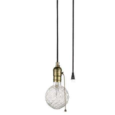 Edison 1-Light Matte Bronze and Black Pendant
