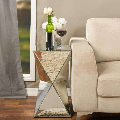 Rebecca Glam Silver Metallic Finished End Table