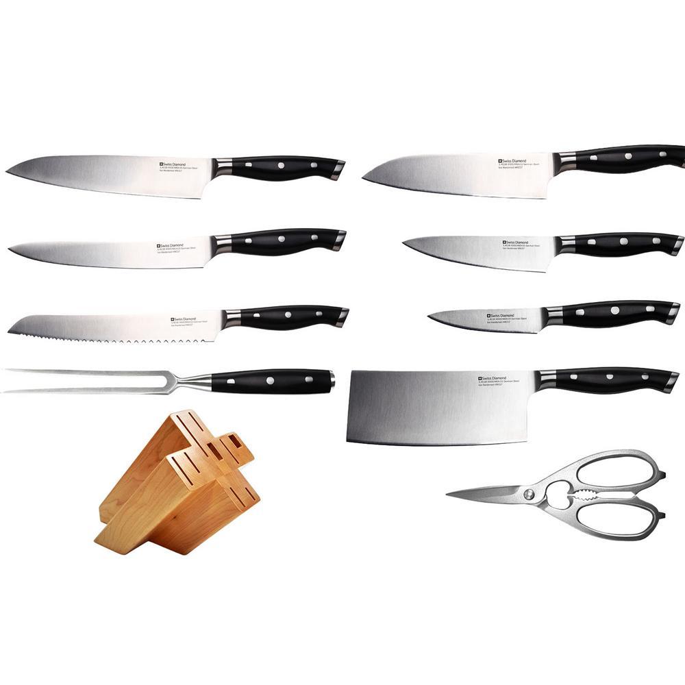 Swiss Diamond 10-Piece Knife Block Set