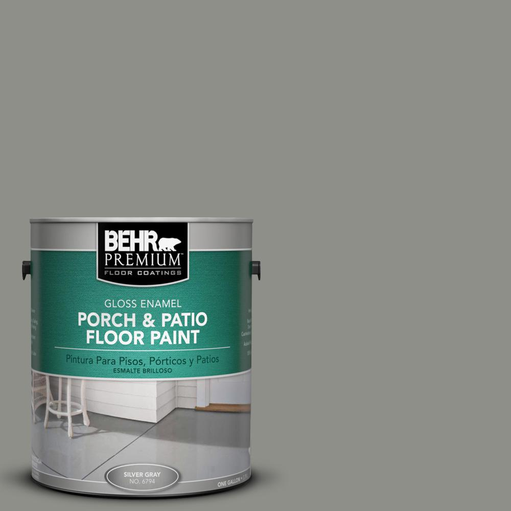 1 gal. #HDC-AC-19 Grant Gray Gloss Porch and Patio Floor Paint