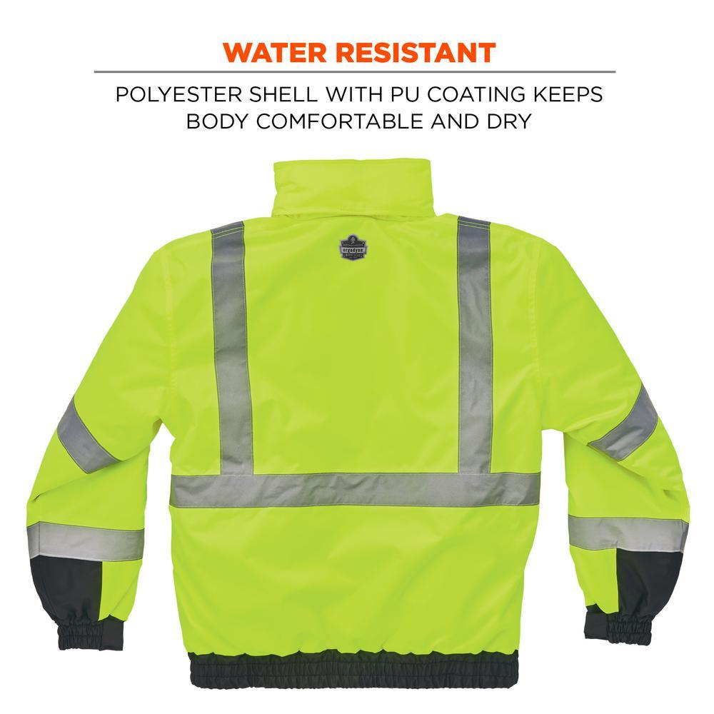 Rain Jacket,Water Wind Resistant Reflective Men/'s Med Yellow