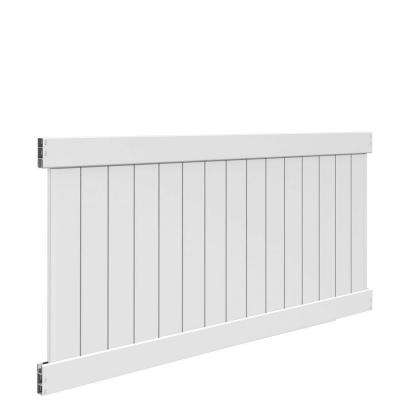 Bryce 4 ft. H x 8 ft. W White Vinyl Un-Assembled Fence Panel