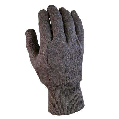 Brown Jersey Gloves (3-Pack)