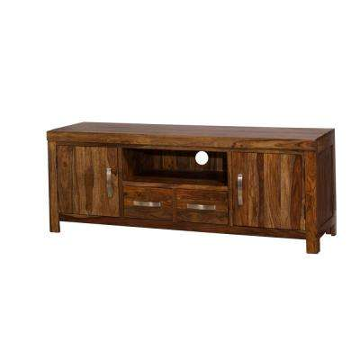 Emerson Natural Sheesham Entertainment Center