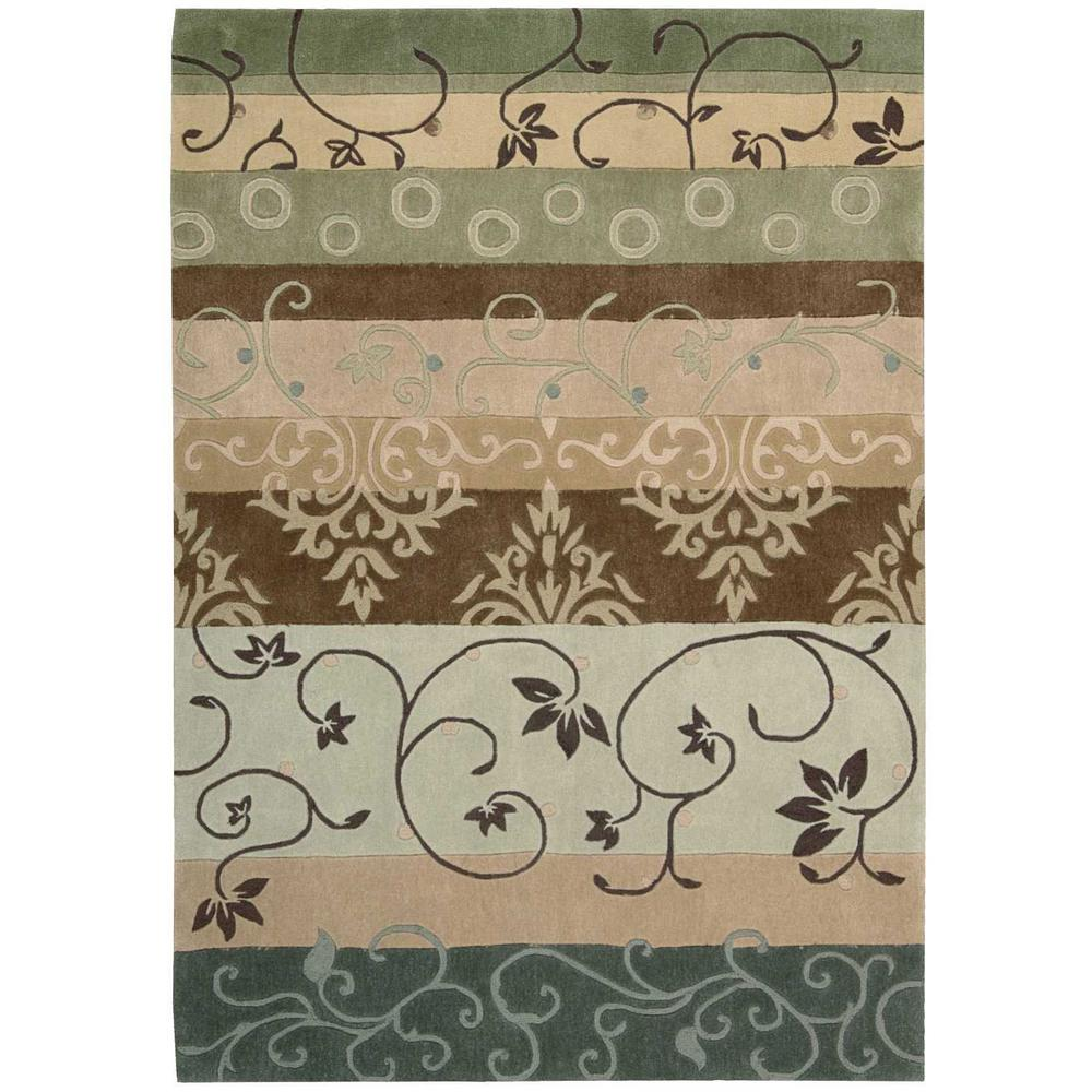 Contour Green 5 ft. x 7 ft. 6 in. Area Rug
