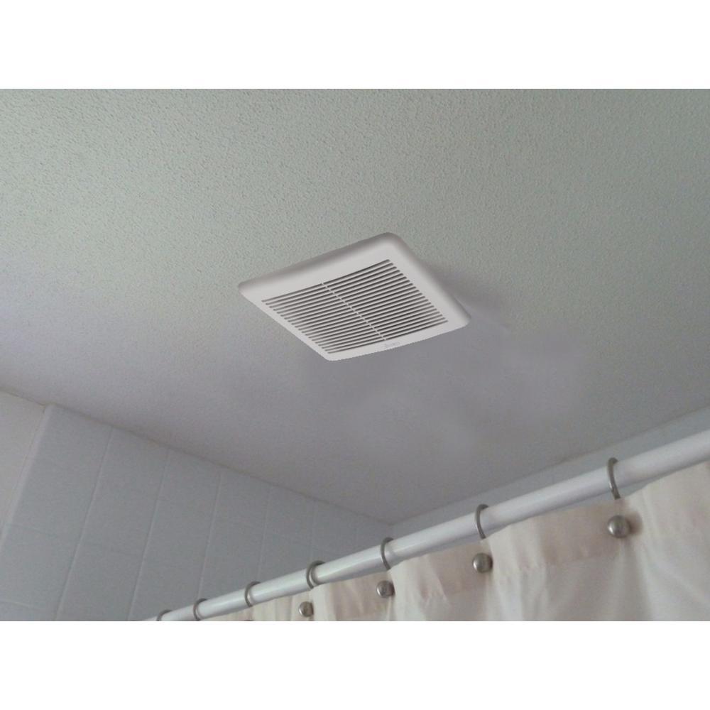 Slim Series 70 CFM Wall or Ceiling Bathroom Exhaust Fan with Humidity Sensor, ENERGY STAR