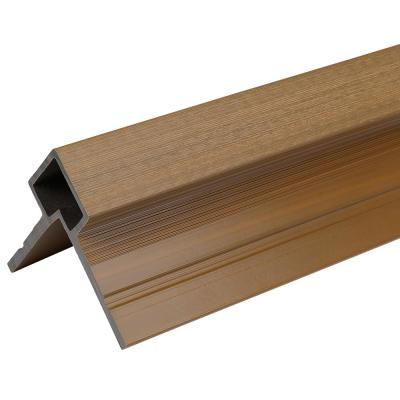 European Siding System 3 in. x 3.1 in. x 8 ft. Peruvian Teak Composite Siding Corner Trim for Belgian Board