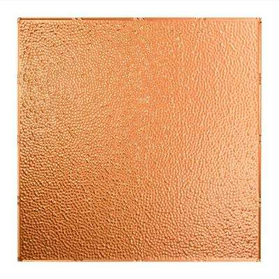 Hammered - 2 ft. x 2 ft. Lay-In Ceiling Tile in Polished Copper