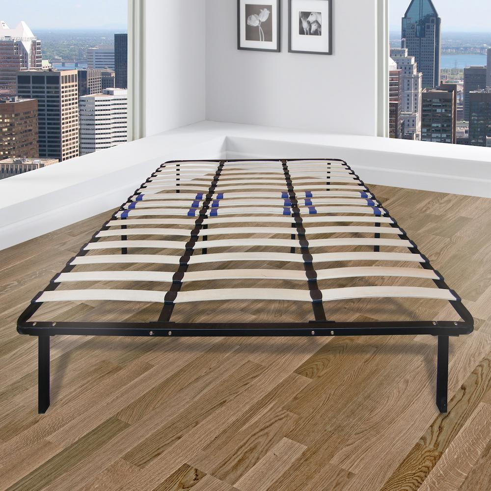 Full Metal And Wood Bed Frame