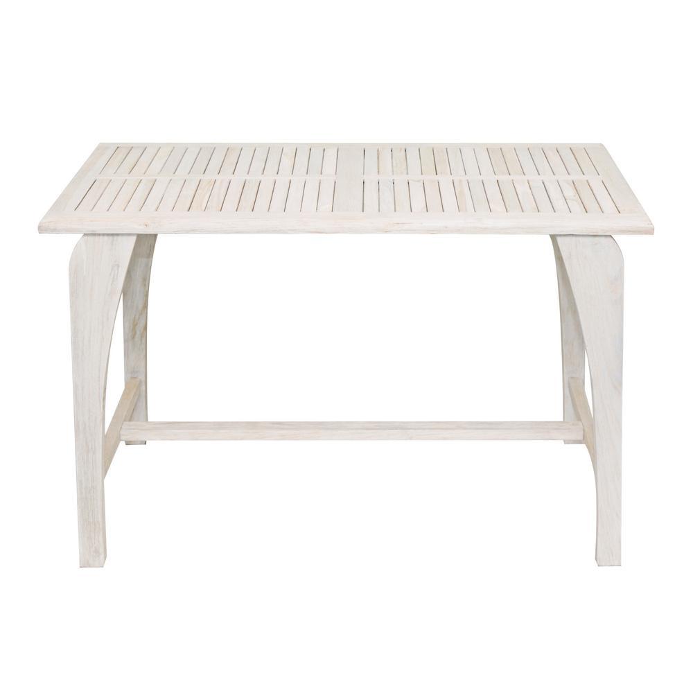 Driftwood Teak Table: Coastal Vogue Tranquility Driftwood Solid Teak Indoor