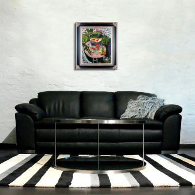 """34 in. x 30 in. """"The Gold Fish with Corinthian Aged Silver Frame """" by Henri Matisse Framed Wall Art"""