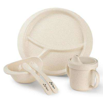 Earth Dish White Set for Kids, 100% Made from a Plant