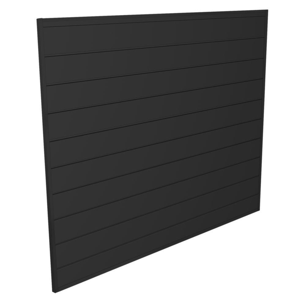 PVC Slatwall 4 ft. x 4 ft. Charcoal