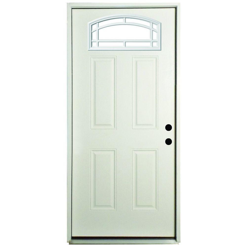 Exterior Prehung Steel Doors Front Doors The Home Depot