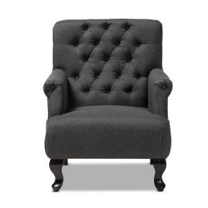 Belan Charcoal Fabric Accent Chair