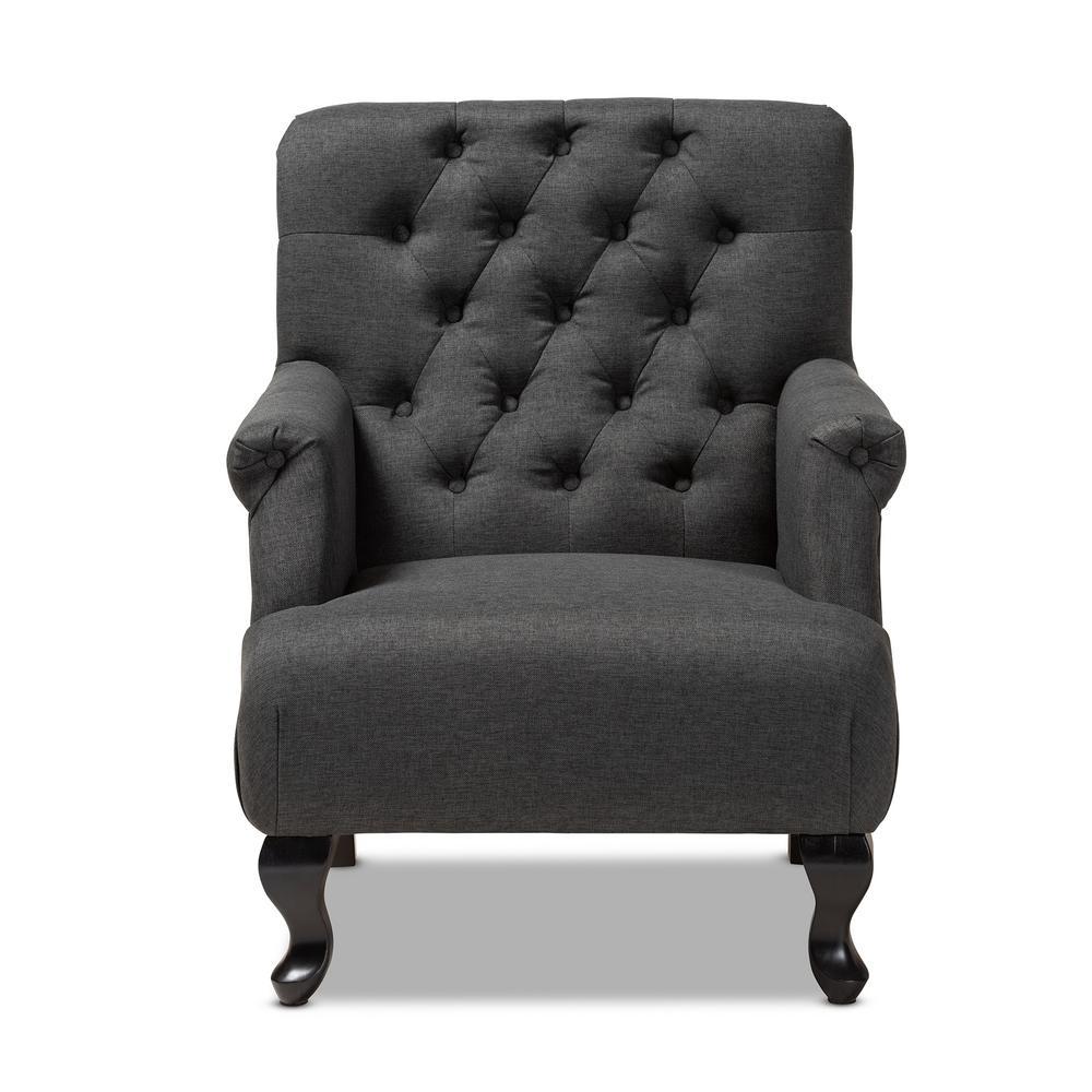 Baxton Studio Belan Charcoal Fabric Accent Chair 154-9515-HD