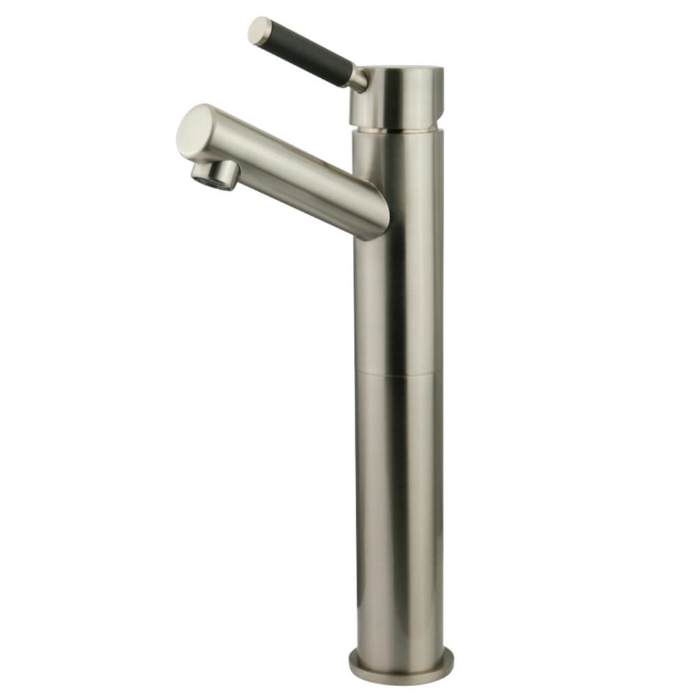 Modern Single Hole Single-Handle Vessel Bathroom Faucet in Brushed Nickel