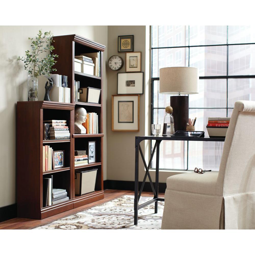 Hampton Bay Dark Brown 3 Shelf Decorative Bookcase Thd130418